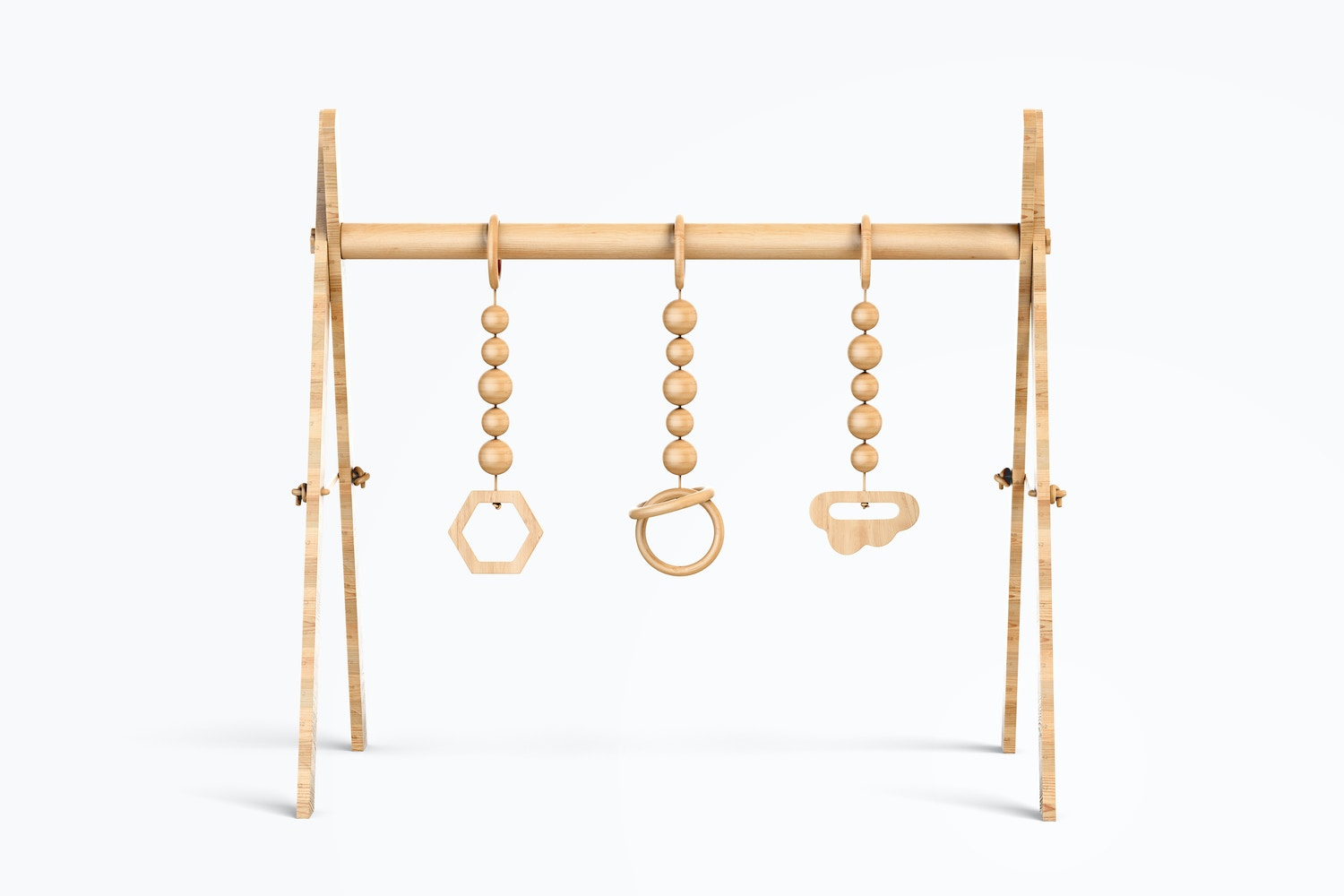 Baby Wooden Gym Mockup, Front View