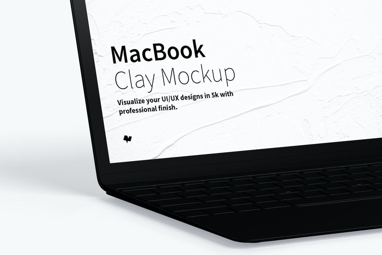 Clay MacBook Mockup, Left View (3) by Original Mockups on Original Mockups