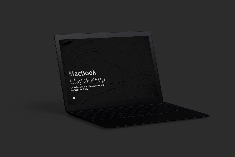 Clay MacBook Mockup, Left View (5) by Original Mockups on Original Mockups