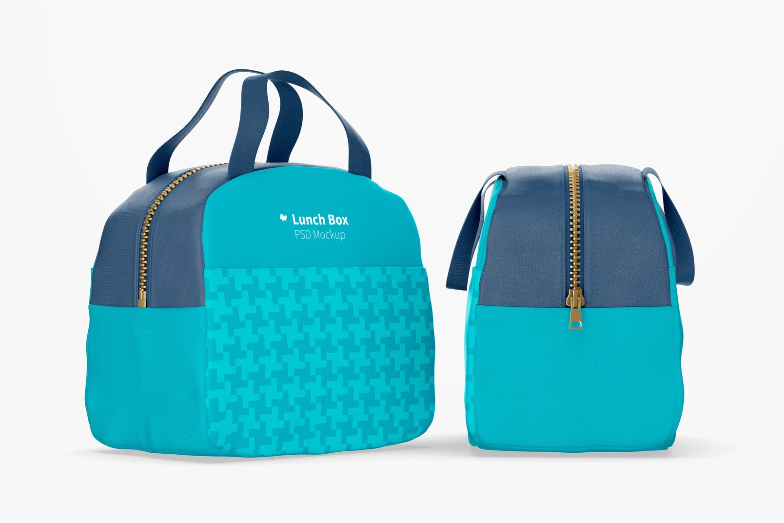 Lunch Bags with Front Pocket Mockup