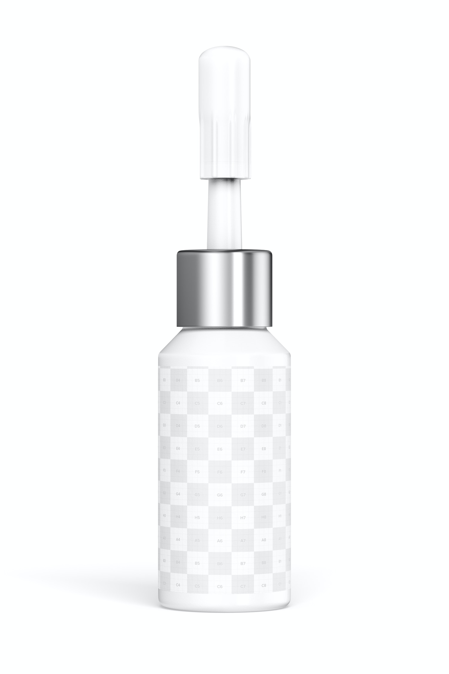 Cosmetic Micro Pigment Tattoo Bottle Mockup, Front View