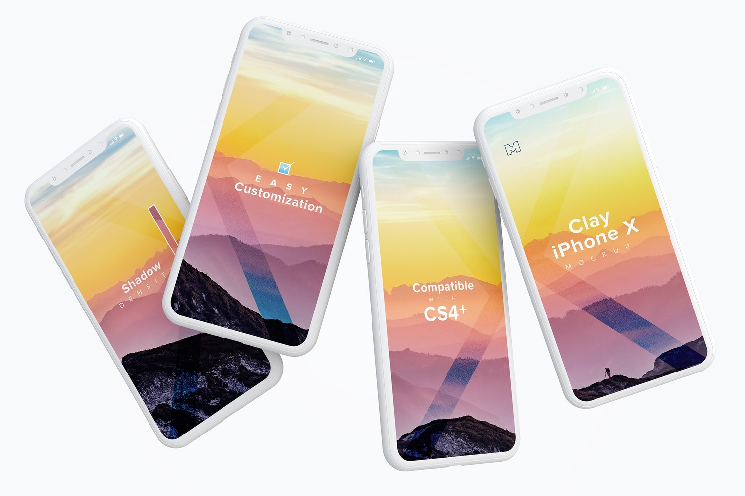 Clay iPhone X Mockup 06 by Original Mockups on Original Mockups