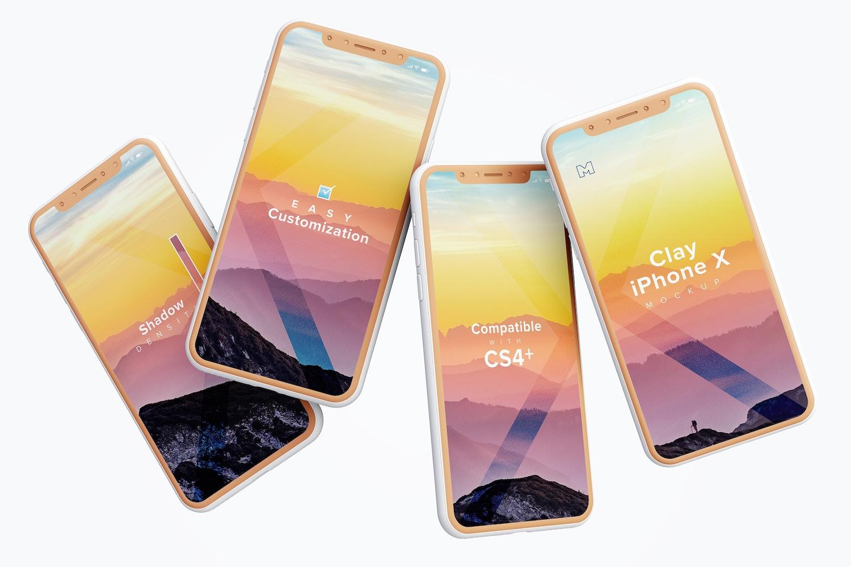 Maqueta de iPhone X Multicolor 06