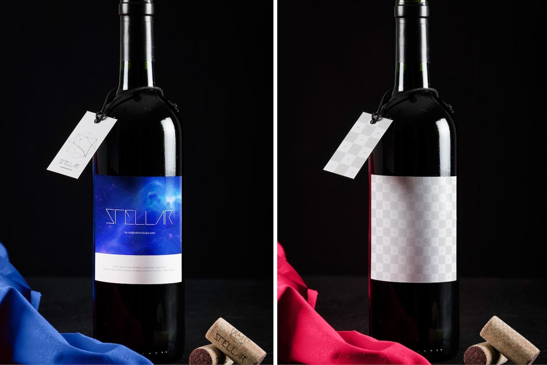 Wine Bottle Mockup 10