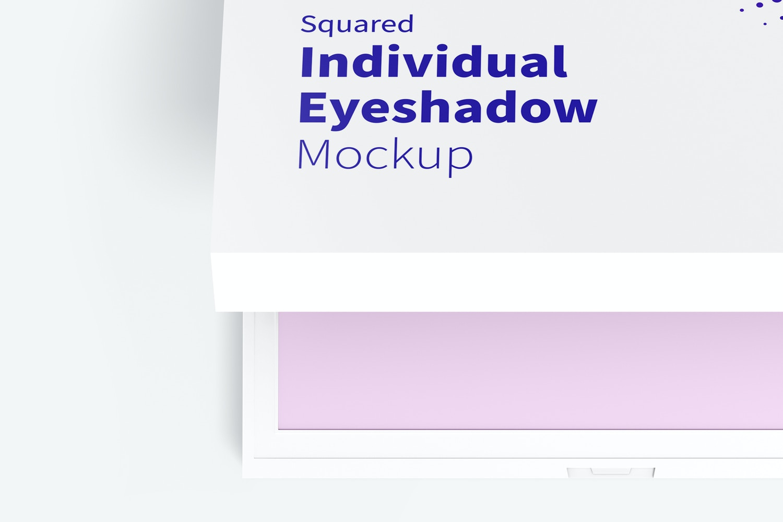 Squared Individual Eyeshadow Mockup, Top View