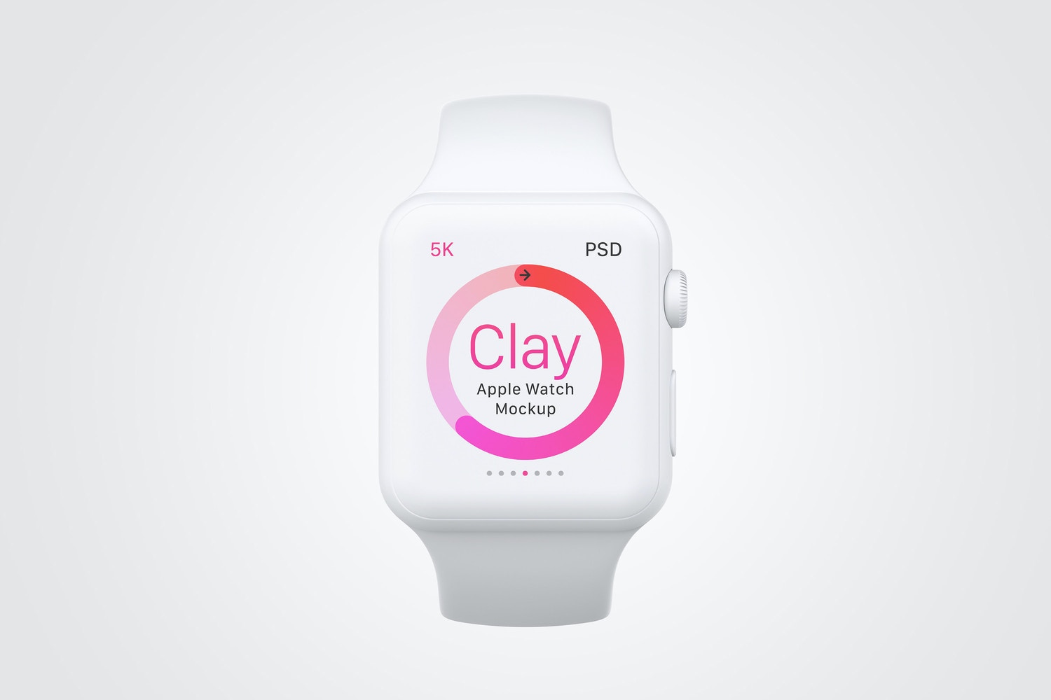 Clay Apple Watch Mockup 04 by Original Mockups on Original Mockups