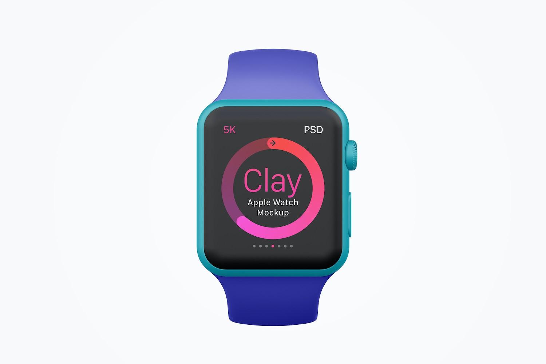 Clay Apple Watch Mockup 04