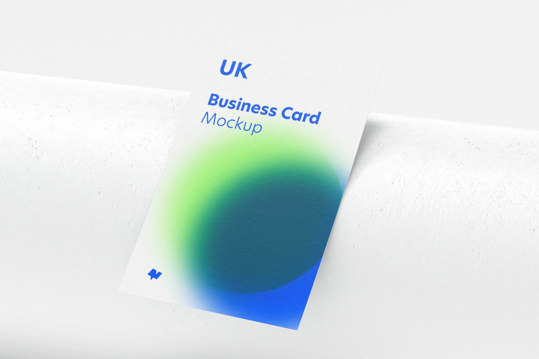UK Portrait Business Card Mockup