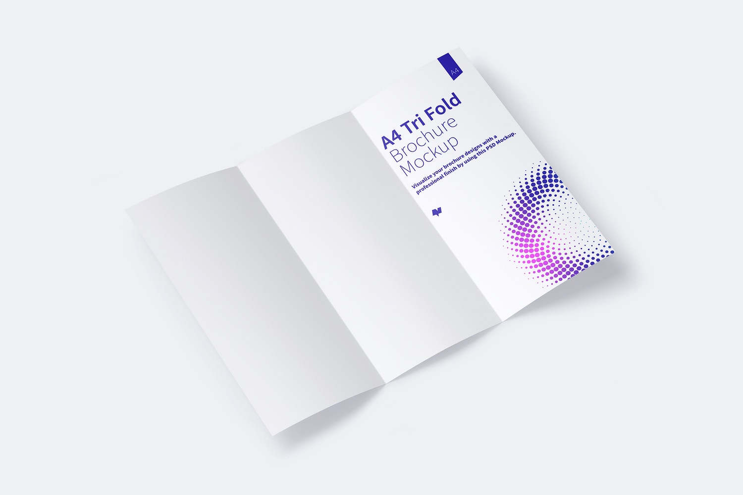 A4 Trifold Brochure Mockup 01 by Original Mockups on Original Mockups