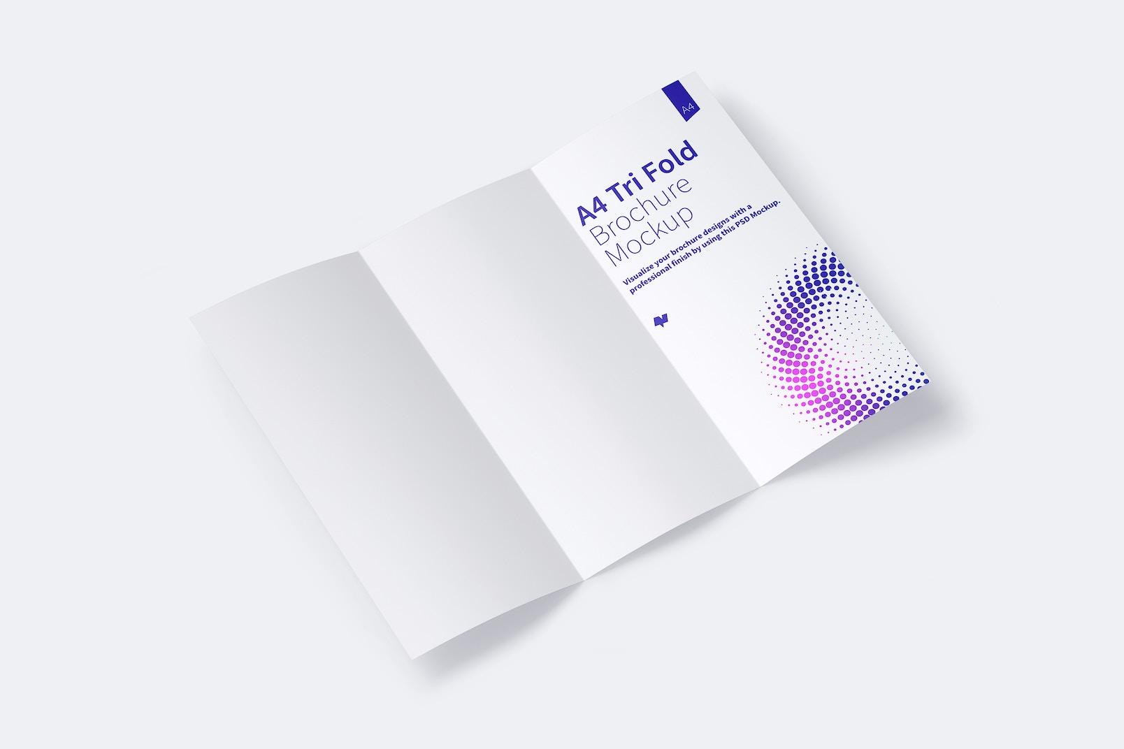 A4 Trifold Brochure Mockup 01
