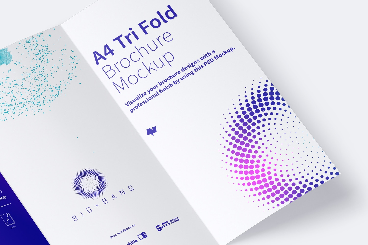 A4 Trifold Brochure Mockup 01 (4) by Original Mockups on Original Mockups