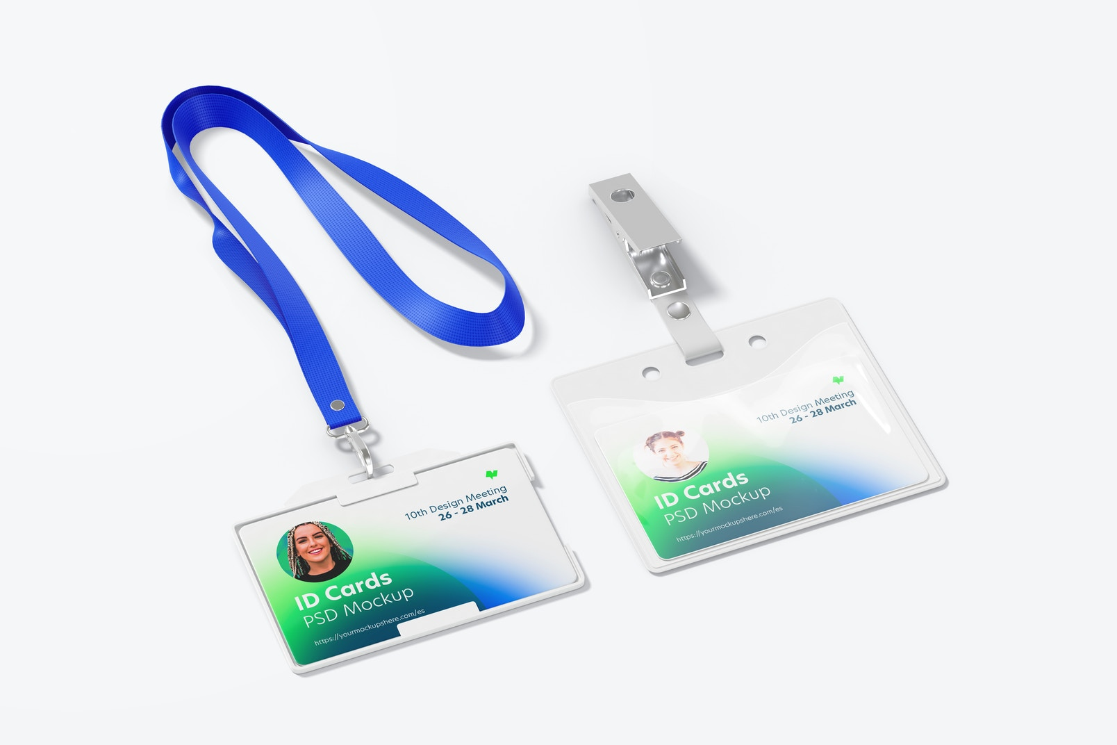 Horizontal ID Cards Mockup
