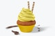 Maqueta de Cupcake con Capacillo de Papel, Vista Frontal