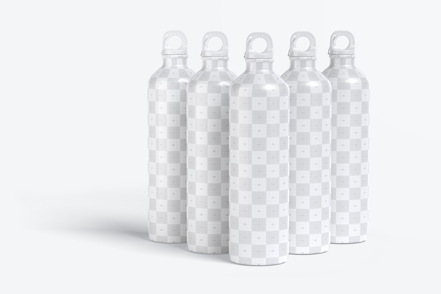 Upgrade your design with the interplay of light and shadow so that the bottles stand out and gain depth in the scene.