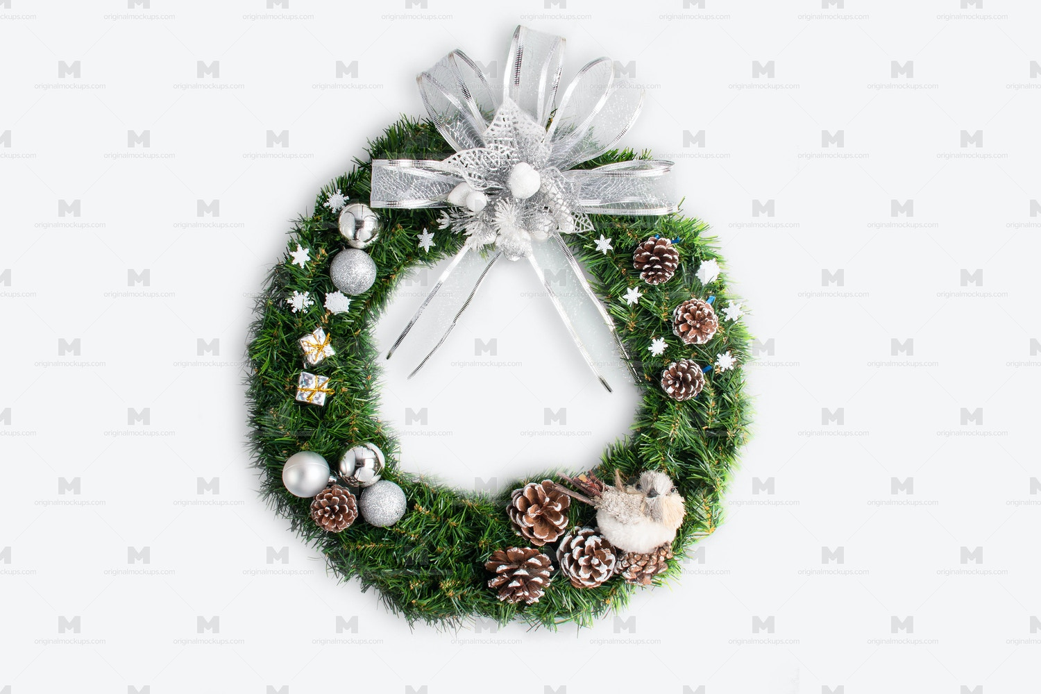 Christmas Wreath Isolate 02 by Original Mockups on Original Mockups