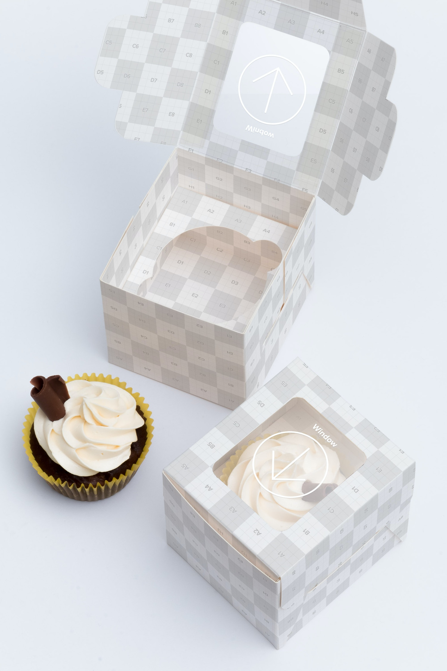 One Cupcake Box Mockup 01 by Ktyellow  on Original Mockups
