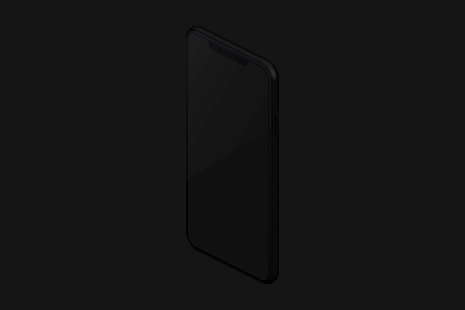 Isometric Clay iPhone XS Max Mockup, Left View 02 (3) by Original Mockups on Original Mockups