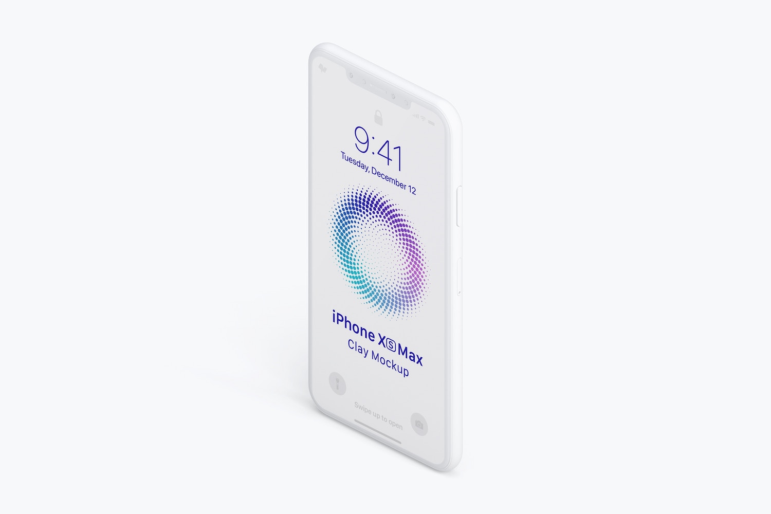 Isometric Clay iPhone XS Max Mockup, Left View 02 by Original Mockups on Original Mockups