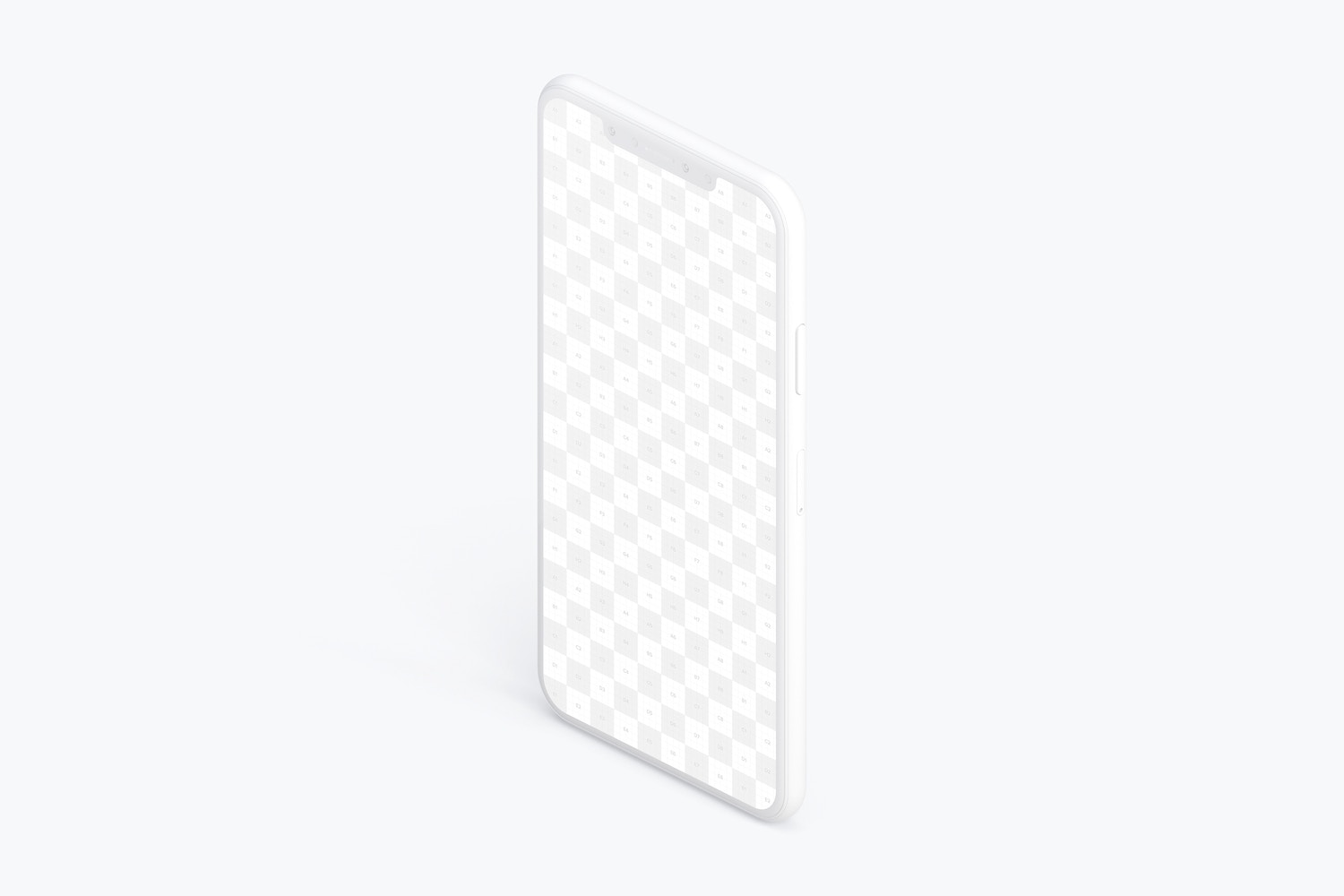 Isometric Clay iPhone XS Max Mockup, Left View 02