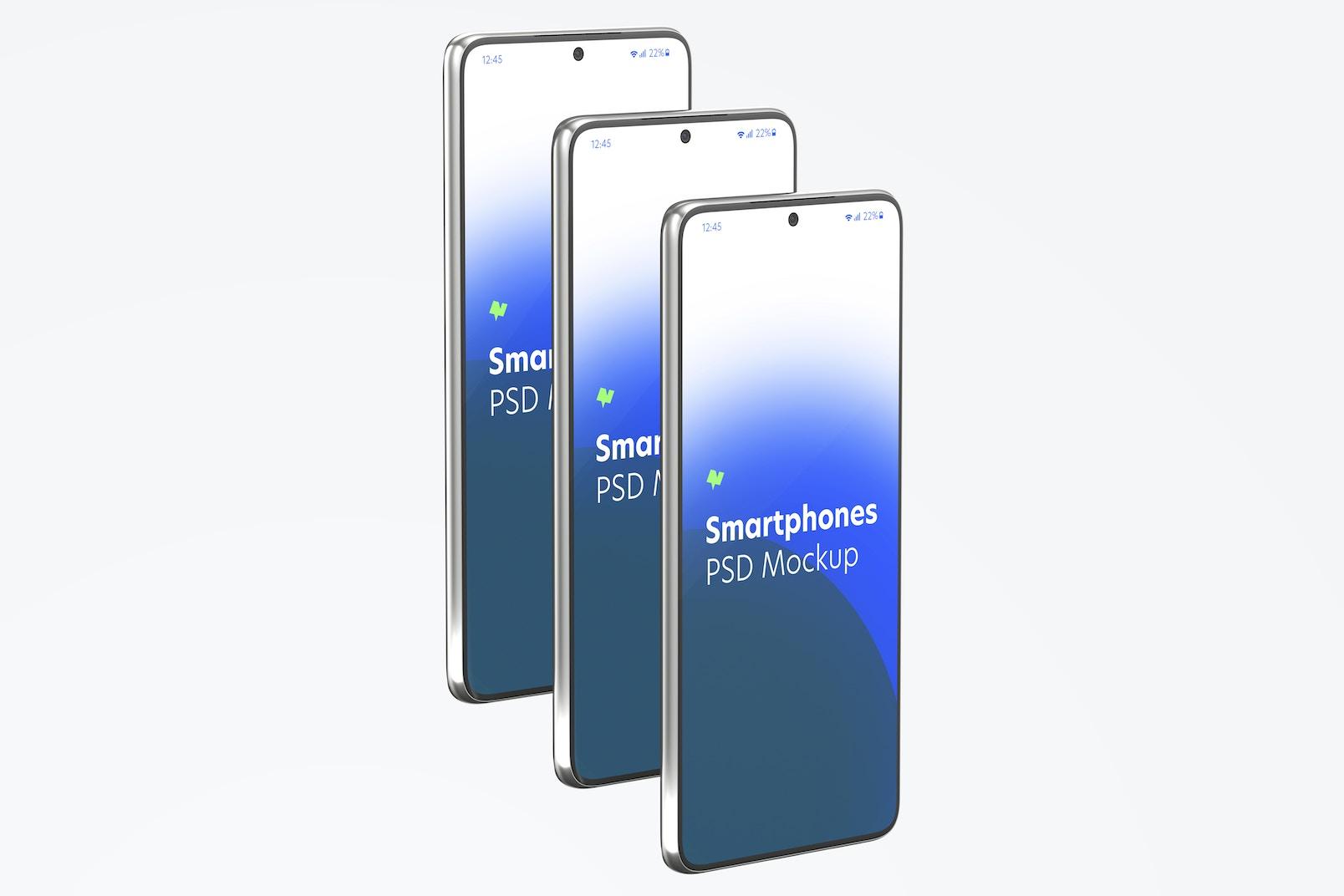 Maqueta de Juego de Samsung S21, Vista De Lado Izquierdo