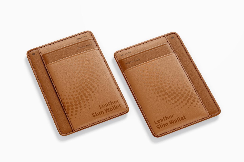 Leather Slim Wallets Mockup