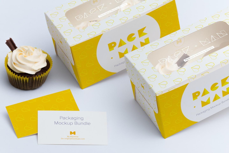 Two Cupcake Box Mockup 04