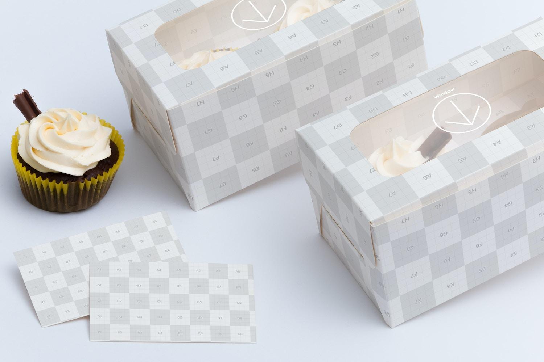 Two Cupcake Box Mockup 04 by Ktyellow  on Original Mockups