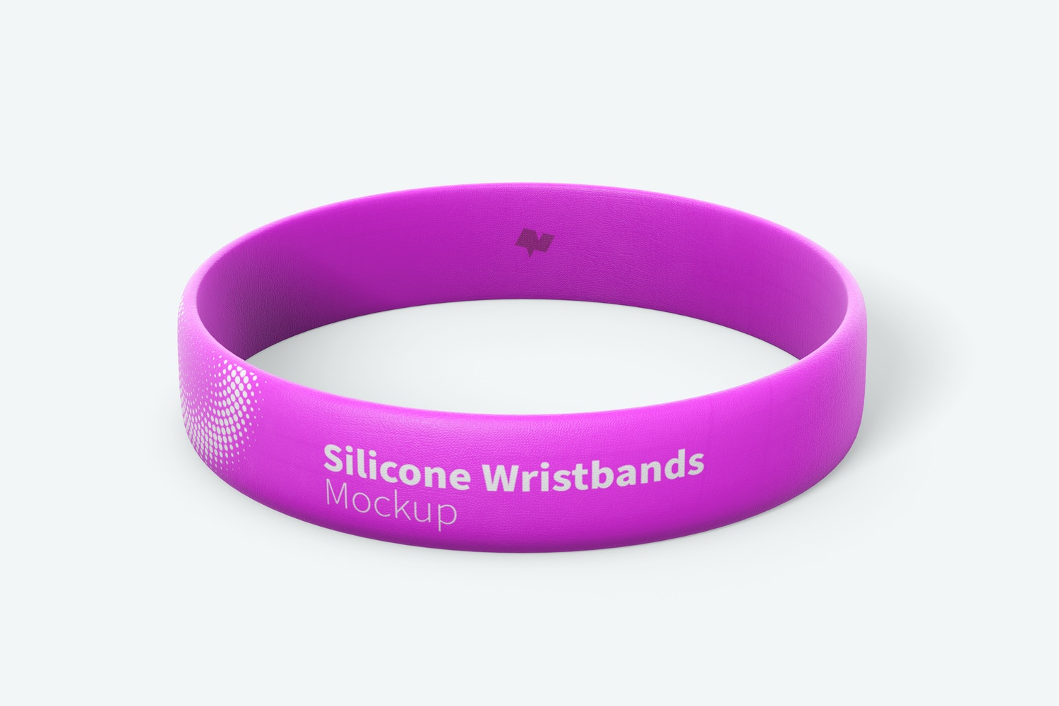 Silicone Wristband Mockup, Single Front View