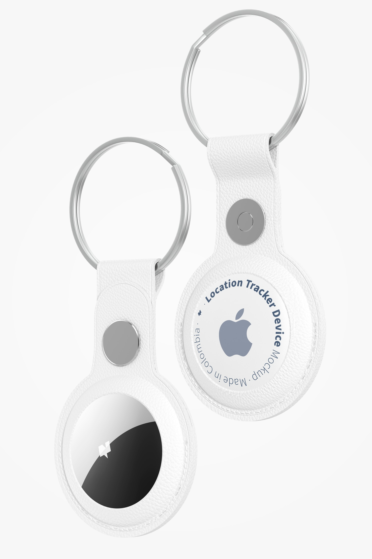 AirTags with Keychain Mockup, Floating
