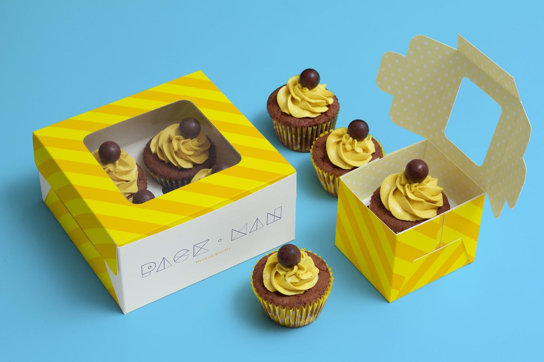 Cupcake Boxes Mockup (4) by Ktyellow  on Original Mockups