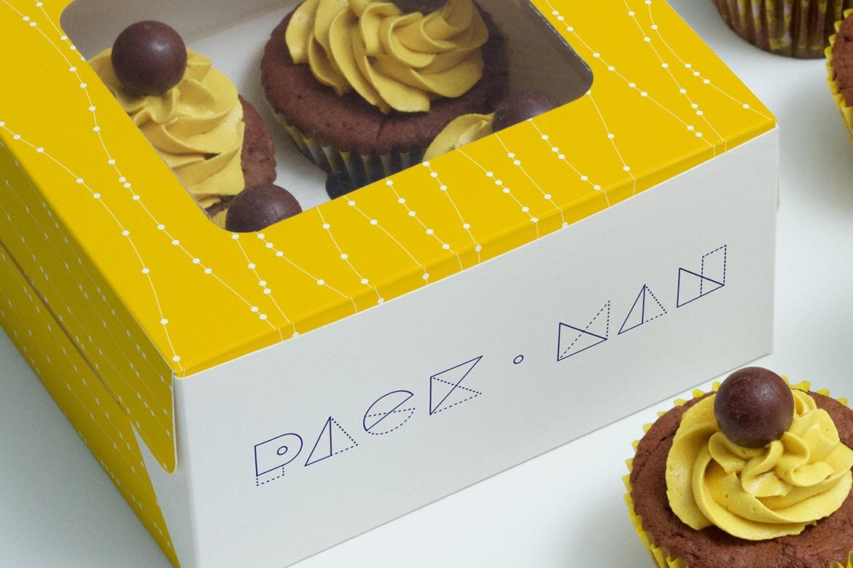 Cupcake Boxes Mockup (3) by Ktyellow  on Original Mockups
