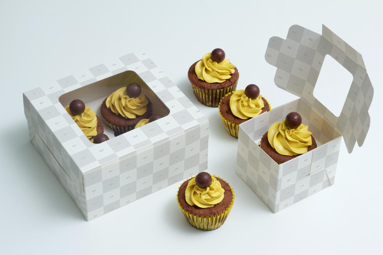 Cupcake Boxes Mockup (2) by Ktyellow  on Original Mockups