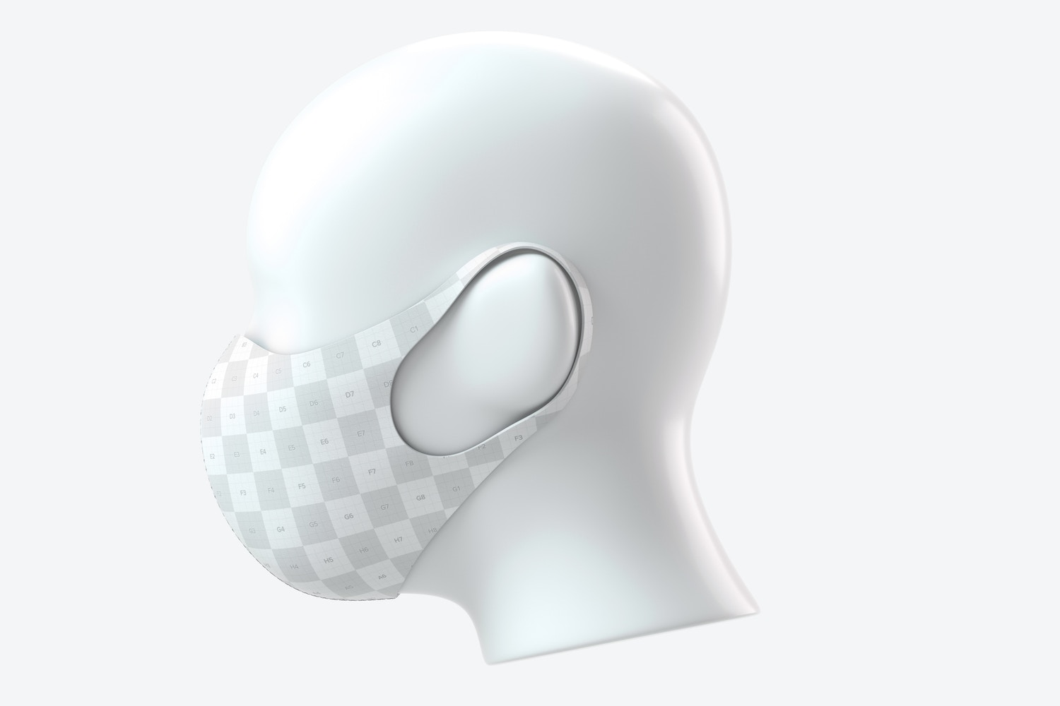 Neoprene Guard Face Mask Mockup, Right View