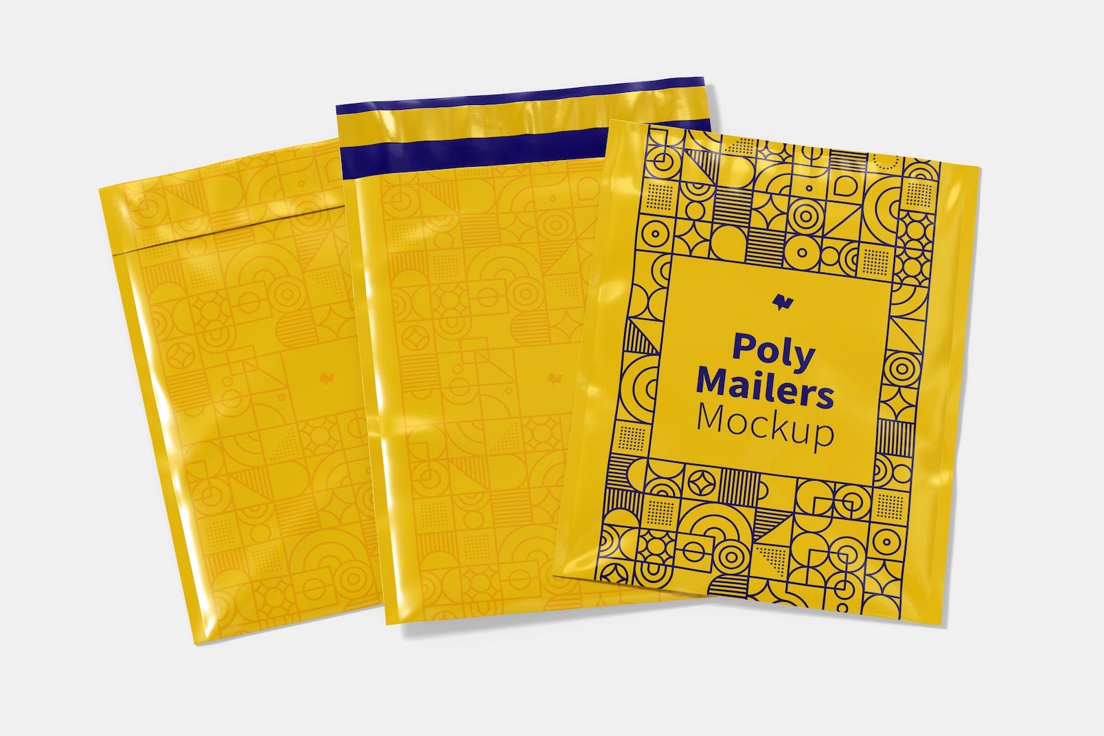 Poly Mailers Set Mockup