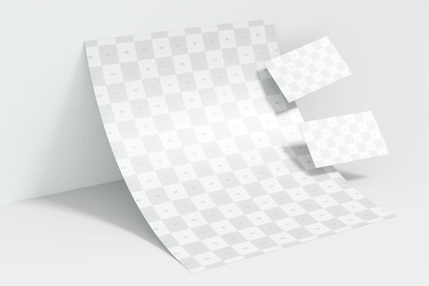 Letterhead with Business Card Mockup, Leaned