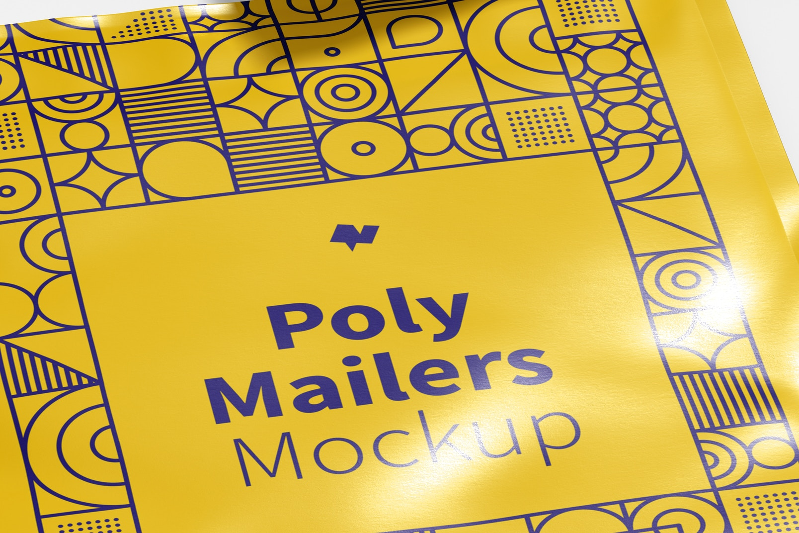 Poly Mailers Mockup, Close Up