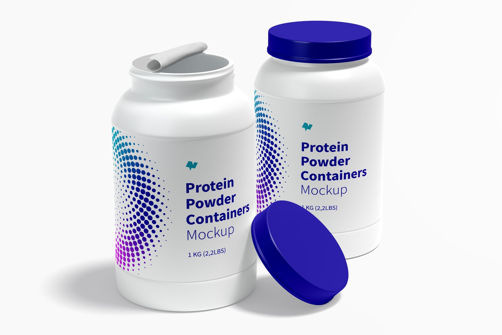 Protein Powder Containers Mockup