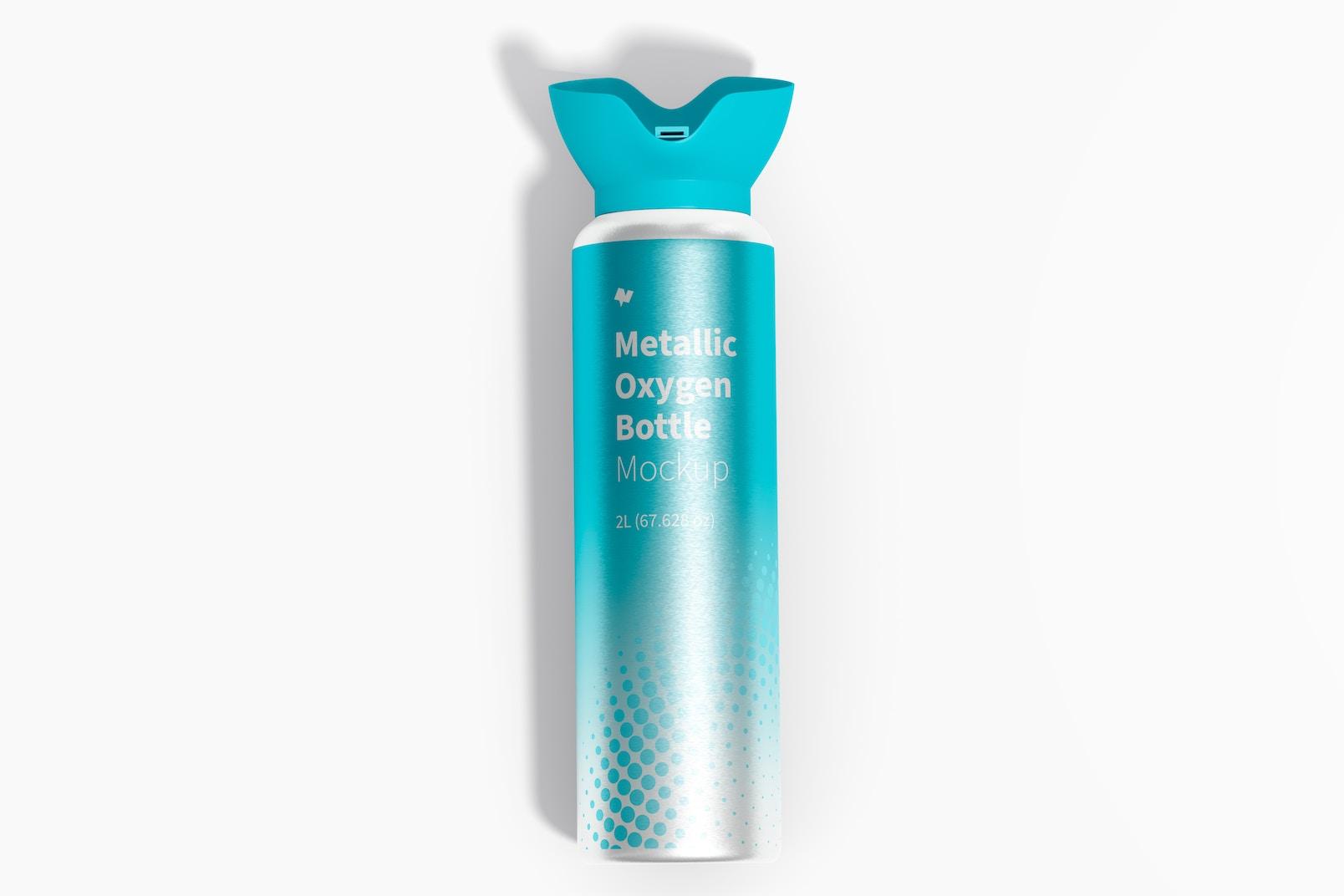 Maqueta de Botella Metálica de Oxígeno, Vista Superior
