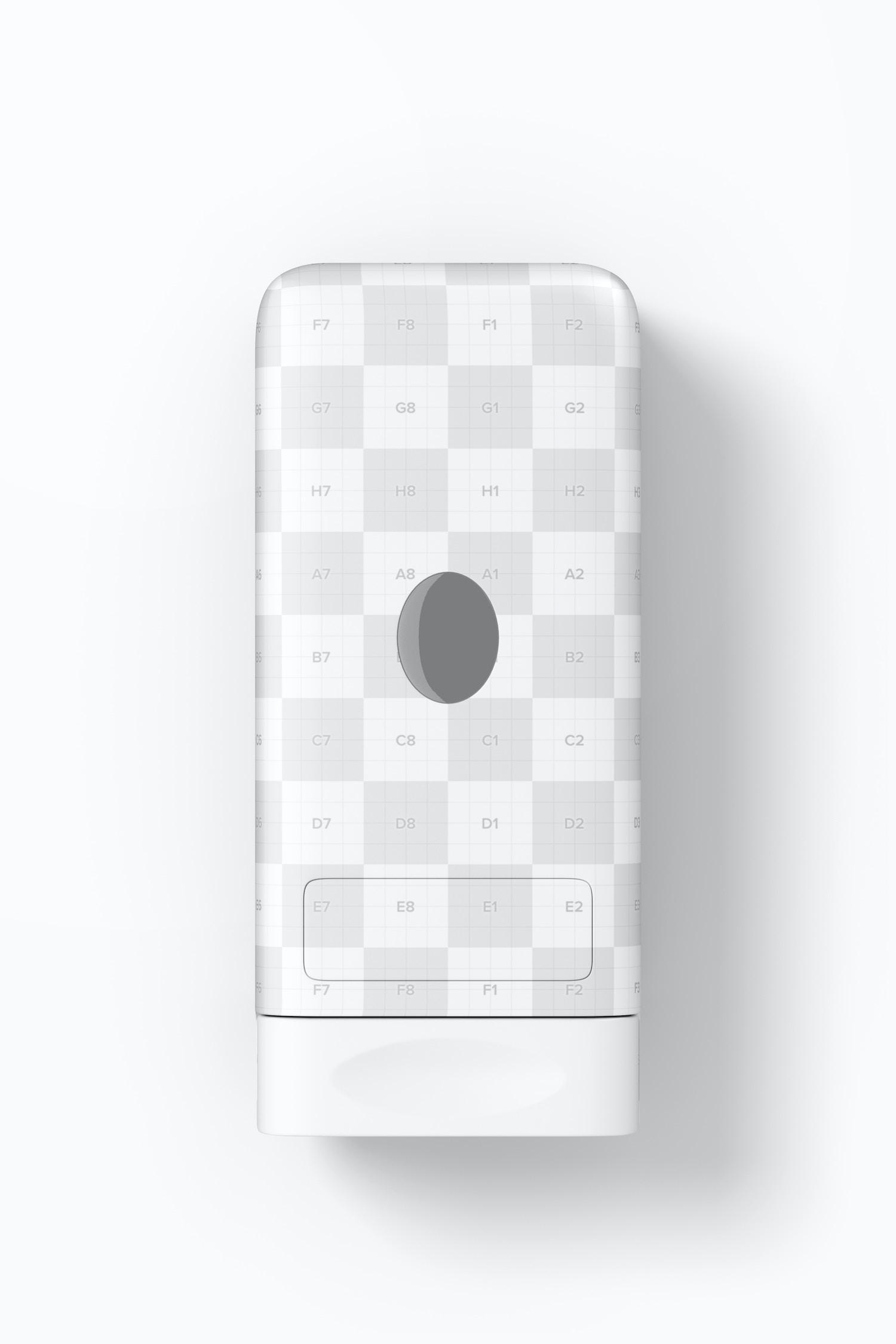 Liquid Soap Dispenser Mockup, Front View
