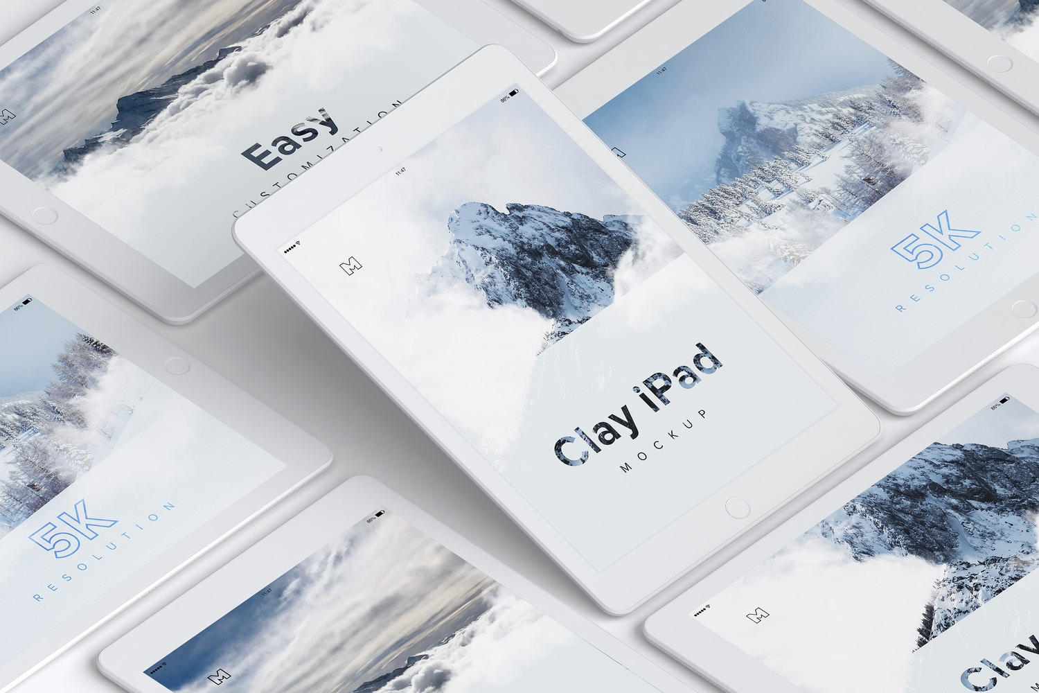 Clay iPad 9.7 Mockup 05 by Original Mockups on Original Mockups