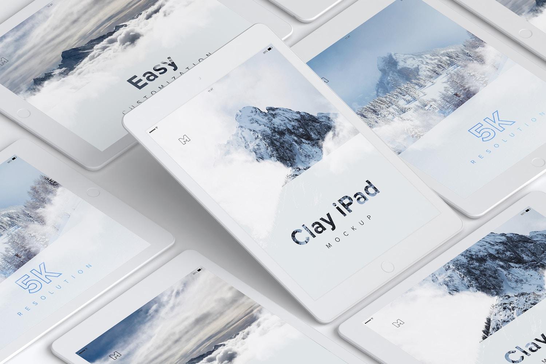 Clay iPad 9.7 Mockup 05