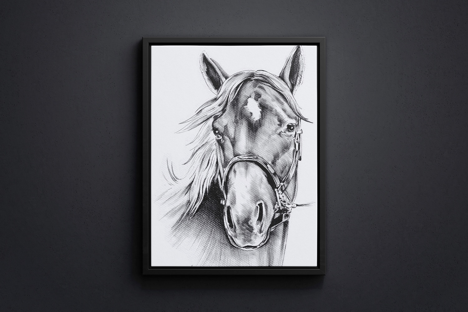 3:4 Portrait Canvas Mockup in Floater Frame, Front View