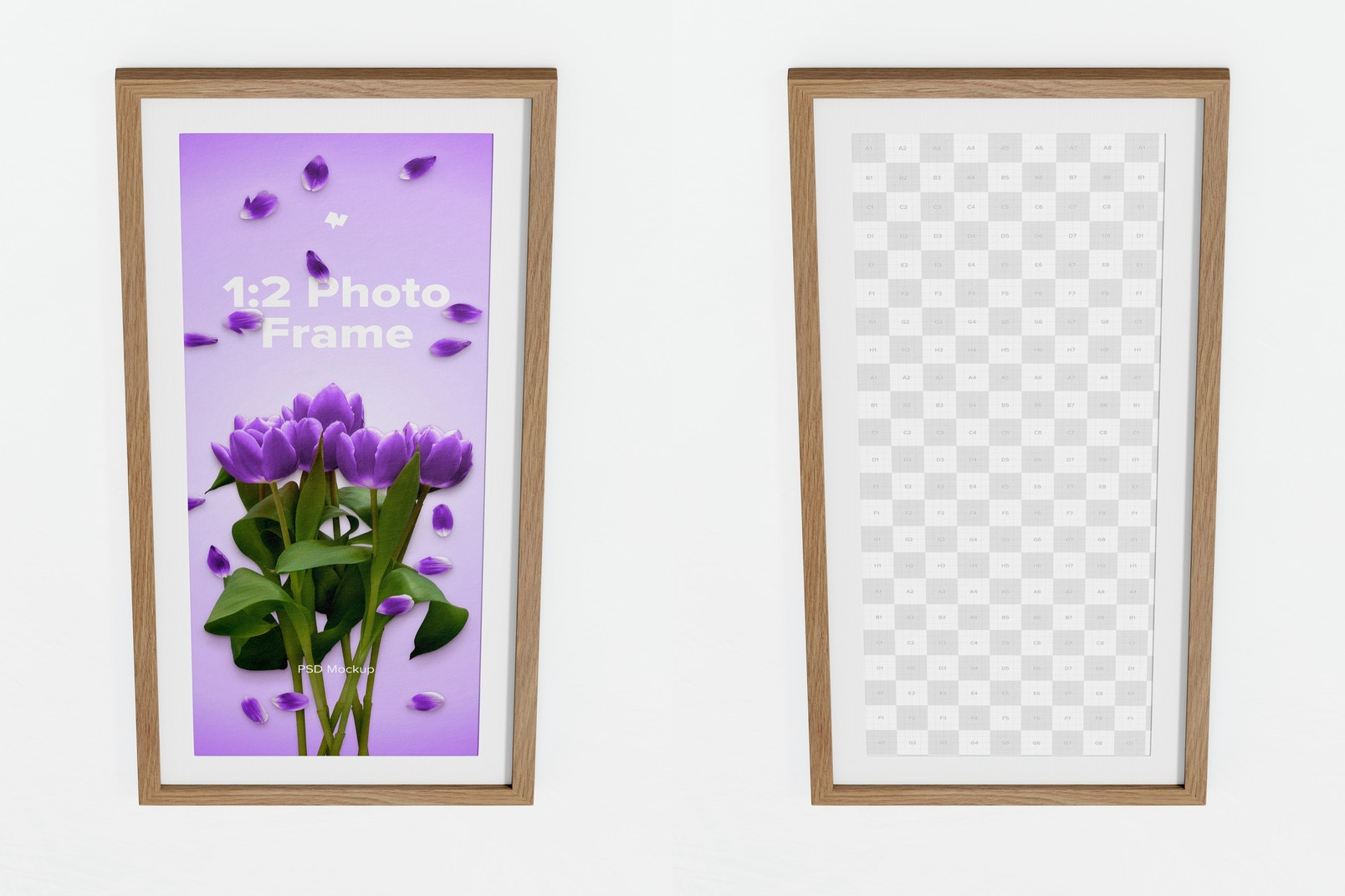 1:2 Photo Frame Mockup, Top Front View