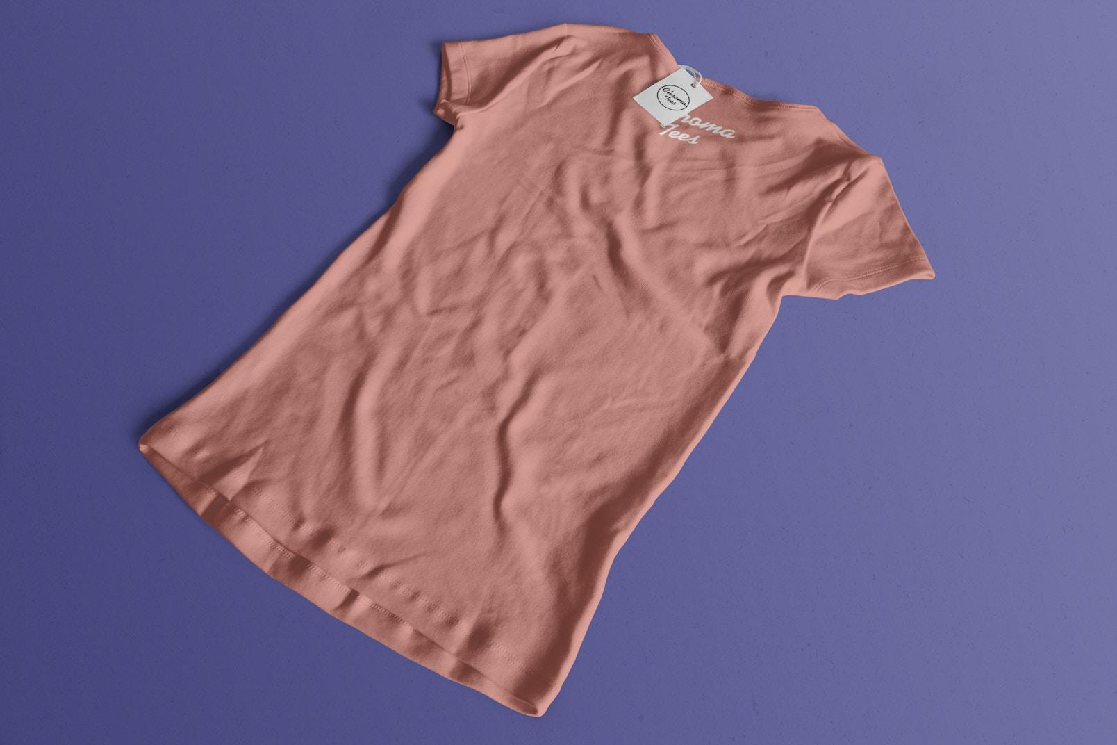 Woman Back T-Shirt Mockup 02