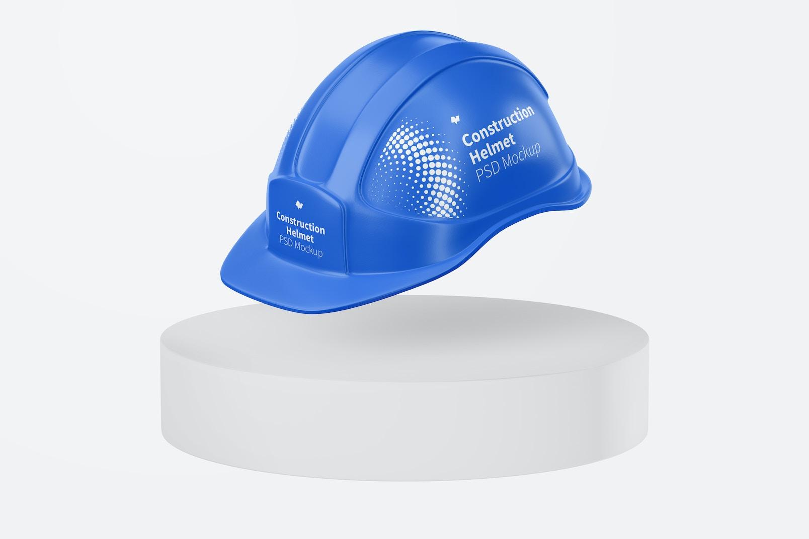 Construction Helmet Mockup, Floating