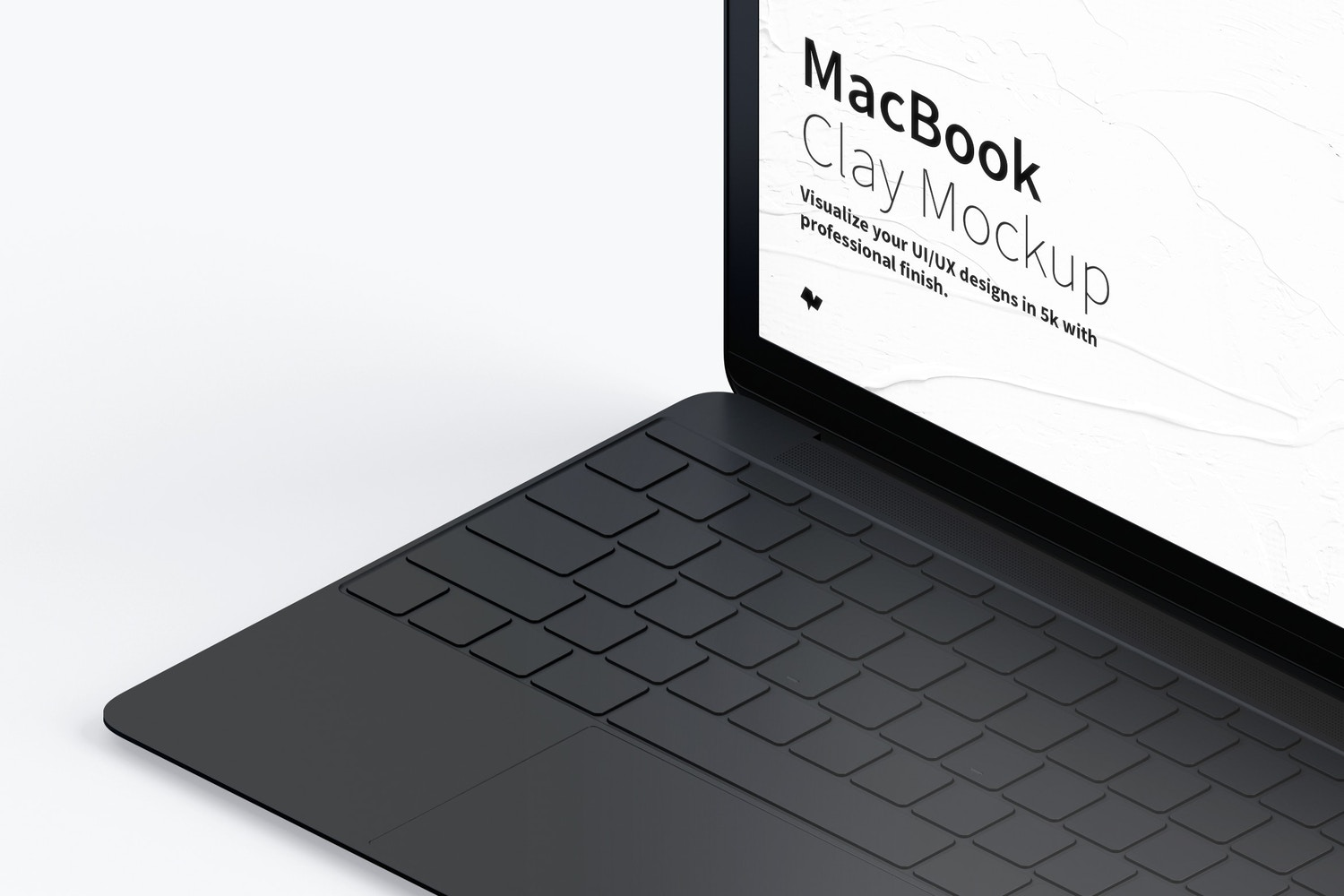 Clay MacBook Mockup, Isometric Right View (3) by Original Mockups on Original Mockups