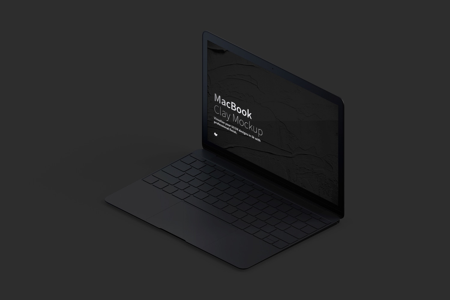 Clay MacBook Mockup, Isometric Right View (5) by Original Mockups on Original Mockups