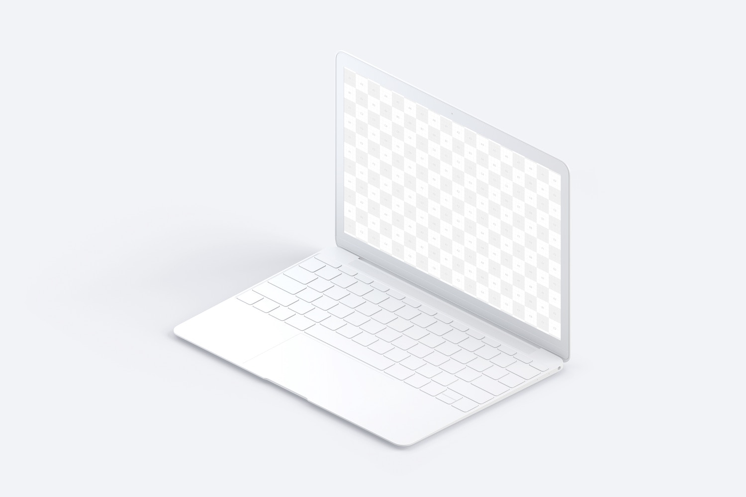 Clay MacBook Mockup, Isometric Right View (2) by Original Mockups on Original Mockups
