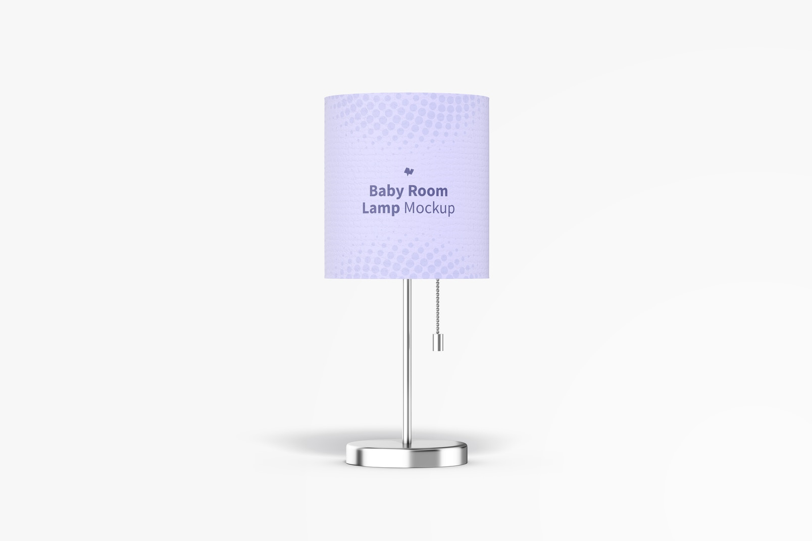 Baby Room Lamp Mockup, Front View