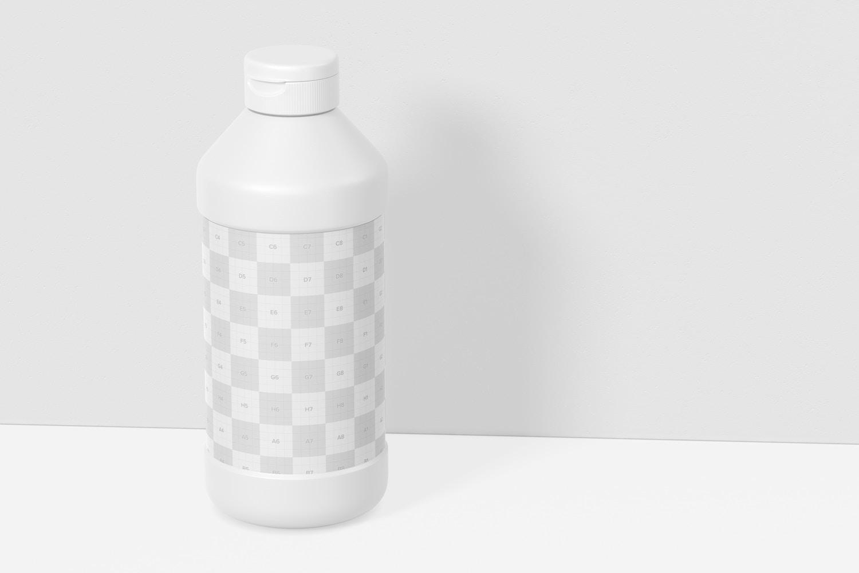 16 oz Tempera Paint Bottle Mockup